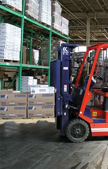 warehouse supplies cart