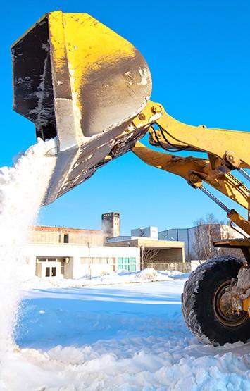 machine unloading snow